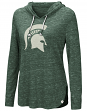 "Michigan State Spartans Women's NCAA ""Swizzle"" Long Sleeve Hooded Shirt"
