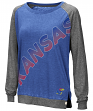 "Kansas Jayhawks Women's NCAA ""On the Edge"" Long Sleeve Raglan Shirt"