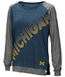 "Michigan Wolverines Women's NCAA ""On the Edge"" Long Sleeve Raglan Shirt"