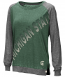 "Michigan State Spartans Women's NCAA ""On the Edge"" Long Sleeve Raglan Shirt"