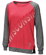 "Wisconsin Badgers Women's NCAA ""On the Edge"" Long Sleeve Raglan Shirt"