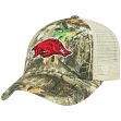 "Arkansas Razorbacks NCAA Top of the World ""Sentry"" Adjustable Camo Meshback Hat"