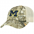 "Michigan Wolverines NCAA Top of the World ""Sentry"" Adjustable Camo Meshback Hat"