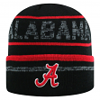 "Alabama Crimson Tide NCAA Top of the World ""Effect"" Cuffed Black Knit Hat"