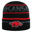 "Arkansas Razorbacks NCAA Top of the World ""Effect"" Cuffed Black Knit Hat"