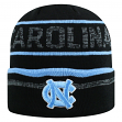 "North Carolina Tarheels NCAA Top of the World ""Effect"" Cuffed Black Knit Hat"