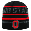 "Ohio State Buckeyes NCAA Top of the World ""Effect"" Cuffed Black Knit Hat"