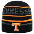 """Tennessee Volunteers NCAA Top of the World """"Effect"""" Cuffed Black Knit Hat"""