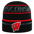 """Wisconsin Badgers NCAA Top of the World """"Effect"""" Cuffed Black Knit Hat"""