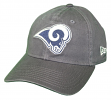 "Los Angeles Rams New Era NFL 9Twenty ""Core Classic Graphite"" Adjustable Hat"