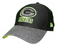 "Green Bay Packers New Era NFL 39THIRTY ""Popped Shadow"" Flex Fit Hat - Black"
