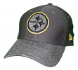 """Pittsburgh Steelers New Era NFL 39THIRTY """"Popped Shadow"""" Flex Fit Hat - Graphite"""
