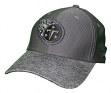 """Tennessee Titans New Era NFL 39THIRTY """"Popped Shadow"""" Flex Fit Hat - Graphite"""