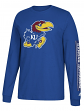 "Kansas Jayhawks Adidas NCAA ""Left Text"" Men's Long Sleeve T-shirt"