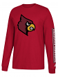"Louisville Cardinals Adidas NCAA ""Left Text"" Men's Long Sleeve T-shirt"