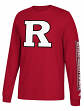 "Rutgers Scarlet Knights Adidas NCAA ""Left Text"" Men's Long Sleeve T-shirt"