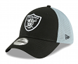 "Oakland Raiders New Era NFL 39THIRTY ""2T Sided"" Flex Fit Meshback Hat"