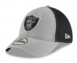 "Oakland Raiders New Era NFL 39THIRTY ""2T Sided"" Flex Fit Meshback Hat - Gray"