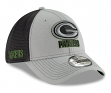 """Green Bay Packers New Era NFL 39THIRTY """"2T Sided"""" Flex Fit Meshback Hat - Gray"""