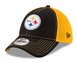 "Pittsburgh Steelers New Era NFL 39THIRTY ""Fan Mesh"" Flex Fit Meshback Hat"