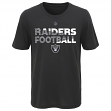 "Oakland Raiders Youth NFL ""Flux"" Dual Blend Short Sleeve T-Shirt"