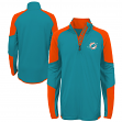 "Miami Dolphins Youth NFL ""Beta"" Performance 1/4 Zip Long Sleeve Shirt"