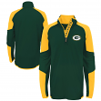 "Green Bay Packers Youth NFL ""Beta"" Performance 1/4 Zip Long Sleeve Shirt"