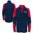 "New England Patriots Youth NFL ""Beta"" Performance 1/4 Zip Long Sleeve Shirt"
