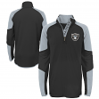 "Oakland Raiders Youth NFL ""Beta"" Performance 1/4 Zip Long Sleeve Shirt"