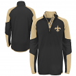 "New Orleans Saints Youth NFL ""Beta"" Performance 1/4 Zip Long Sleeve Shirt"
