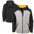 "Pittsburgh Steelers Youth NFL ""Hi-Tech"" Performance Full-Zip Hooded Sweatshirt"