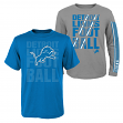 """Detroit Lions Youth NFL """"Playmaker"""" 3 in 1 T-Shirt Combo Set"""