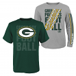 "Green Bay Packers Youth NFL ""Playmaker"" 3 in 1 T-Shirt Combo Set"