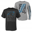 "Carolina Panthers Youth NFL ""Playmaker"" 3 in 1 T-Shirt Combo Set"