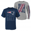"New England Patriots Youth NFL ""Playmaker"" 3 in 1 T-Shirt Combo Set"
