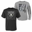 "Oakland Raiders Youth NFL ""Playmaker"" 3 in 1 T-Shirt Combo Set"
