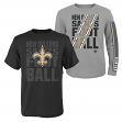 """New Orleans Saints Youth NFL """"Playmaker"""" 3 in 1 T-Shirt Combo Set"""