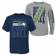 """Seattle Seahawks Youth NFL """"Playmaker"""" 3 in 1 T-Shirt Combo Set"""