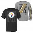 "Pittsburgh Steelers Youth NFL ""Playmaker"" 3 in 1 T-Shirt Combo Set"