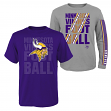 "Minnesota Vikings Youth NFL ""Playmaker"" 3 in 1 T-Shirt Combo Set"