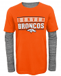 "Denver Broncos Youth NFL ""Hardy Fan"" L/S Faux Layer Thermal Shirt"