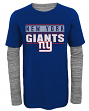 "New York Giants Youth NFL ""Hardy Fan"" L/S Faux Layer Thermal Shirt"