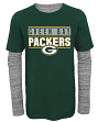 "Green Bay Packers Youth NFL ""Hardy Fan"" L/S Faux Layer Thermal Shirt"