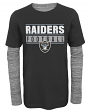 "Oakland Raiders Youth NFL ""Hardy Fan"" L/S Faux Layer Thermal Shirt"