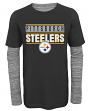 "Pittsburgh Steelers Youth NFL ""Hardy Fan"" L/S Faux Layer Thermal Shirt"