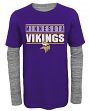 "Minnesota Vikings Youth NFL ""Hardy Fan"" L/S Faux Layer Thermal Shirt"