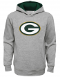 "Green Bay Packers Youth NFL ""Prime Time"" Pullover Hooded Sweatshirt - Gray"