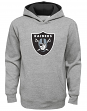 """Oakland Raiders Youth NFL """"Prime Time"""" Pullover Hooded Sweatshirt - Gray"""