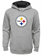 """Pittsburgh Steelers Youth NFL """"Prime Time"""" Pullover Hooded Sweatshirt - Gray"""