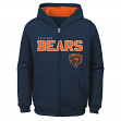"""Chicago Bears Youth NFL """"Game Stated"""" Full Zip Hooded Sweatshirt"""